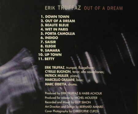 Truffaz,Erik: Out Of A Dream,Digi, Blue Note(855855 2), I, 1997 - CD - 95959 - 10,00 Euro