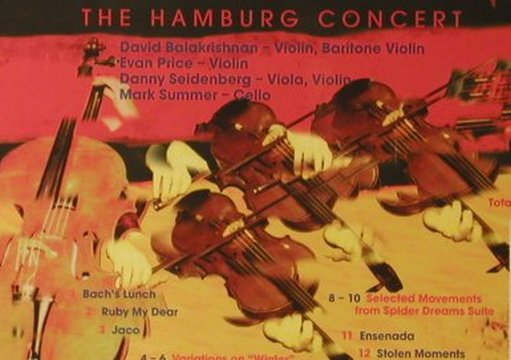 Turtle Island String Quartet: The Hamburg Concert, CCn'C Rec.(00282), D, 1998 - CD - 95986 - 10,00 Euro
