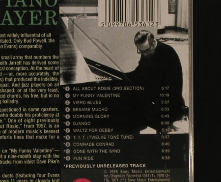 Evans,Bill: Piano Player, Columbia(CK 65361), EU, 1998 - CD - 97147 - 7,50 Euro