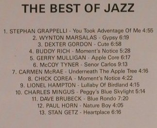 V.A.The Best Of Jazz: Grappelli...Stan Getz, 13Tr., Citadel(8860), Israel/EEC,  - CD - 97329 - 4,00 Euro
