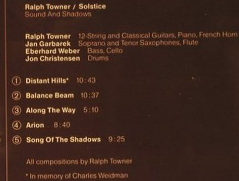 Towner,Ralph: Solstice-Sound And Shadow'77, ECM(829 386-2), D,  - CD - 97700 - 7,50 Euro