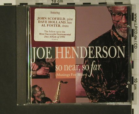 Henderson,Joe: So Near So Far, Verve(517 674-2), , 1993 - CD - 97722 - 7,50 Euro