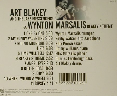 Blakey,Art & Jazz Messengers: Blakey's Theme, West Wind(WW 2045), , 1989 - CD - 97743 - 7,50 Euro