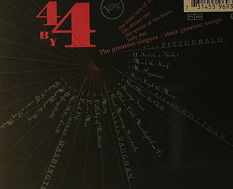 V.A.4 BY 4: Fitzgerald,Holiday,Vaughan,Washingt, Verve(), D, 1999 - CD - 98161 - 7,50 Euro