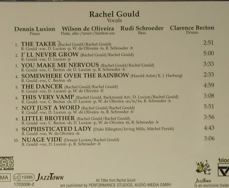 Gould,Rachel: The Dancer, JazzTown(), D, 1999 - CD - 98442 - 5,00 Euro