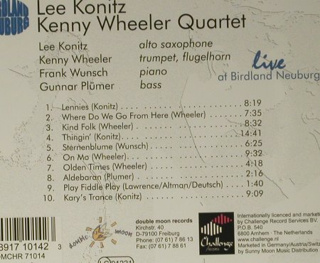 Konitz,Lee / Kenny Wheeler Quartet: Live at Birdland Neuburg, DoubleMoon(), D, 1999 - CD - 98448 - 10,00 Euro