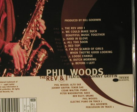 Woods,Phil  feat.Johny.Griffin: The Rev And I, Blue Note(), EU, 1998 - CD - 98449 - 10,00 Euro