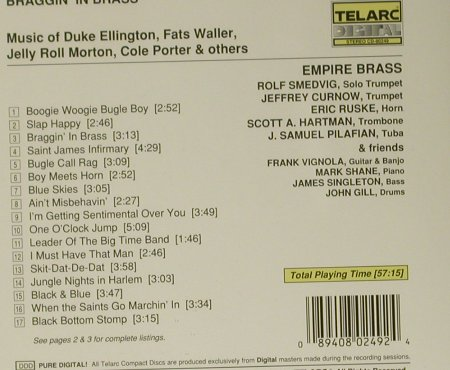 Empire Brass: Braggin' In Brass, Telarc(CD-80249), US, 1991 - CD - 99017 - 6,00 Euro