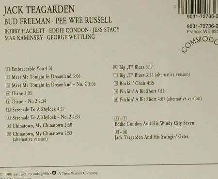 Teagarden,Jack/Freeman/PW Russell: Classics in Swing, Commodore(9031-72736-2), D, 1991 - CD - 99029 - 7,50 Euro