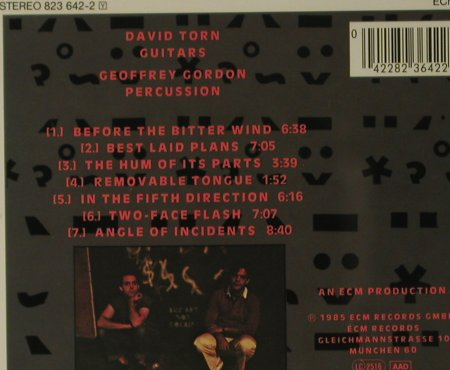 Torn,David: Best Laid Plans, ECM 1284(823 642-2), D, 1985 - CD - 99178 - 9,00 Euro