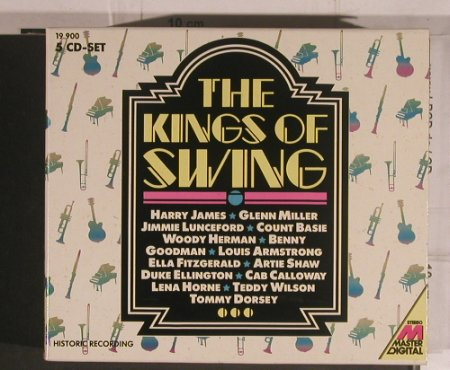 V.A.Kings of Swing: Harry James..Armstrong, Box Set, Delta/Master(19 900/1-5), D, Mono, 1988 - 5CD - 99604 - 12,50 Euro