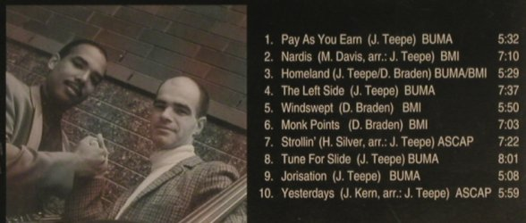 Teepe,Joris - Don Braden Quintet: Pay As you Earn, Mons Records(2004), D, 1994 - CD - 99748 - 7,50 Euro