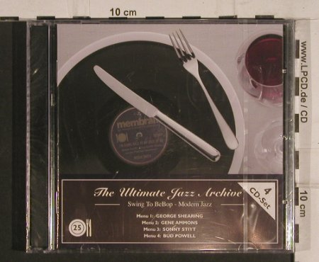 V.A.The Ultimate Jazz Archive: 25-Swing to BeBop-Modern Jazz, Membran(222781),  FS-New, 2005 - 4CD - 99759 - 10,00 Euro