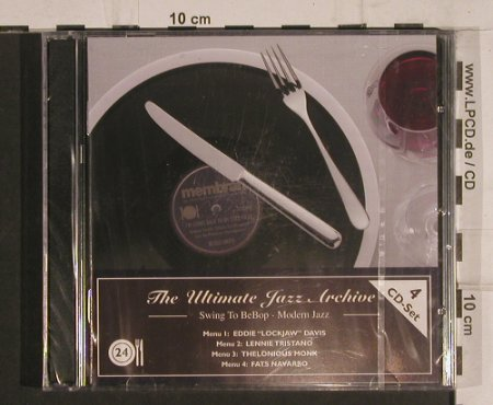 V.A.The Ultimate Jazz Archive: 24-Swing to BeBop-Modern Jazz, Membran(222780),  FS-New, 2005 - 4CD - 99760 - 10,00 Euro