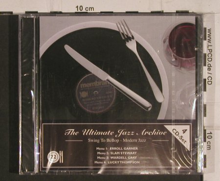 V.A.The Ultimate Jazz Archive: 22-Swing to BeBop-Modern Jazz, Membran(222778),  FS-New, 2005 - 4CD - 99761 - 10,00 Euro