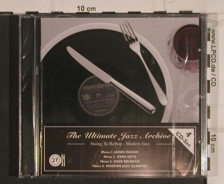 V.A.The Ultimate Jazz Archive: 27-Swing to BeBop-Modern Jazz, Membran(222783), FS-New, 2005 - 4CD - 99763 - 10,00 Euro