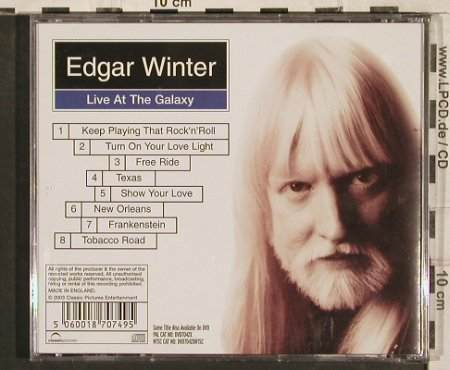 Winter,Edgar: Live at the Galaxy, ClassicP.(), UK, 2003 - CD - 83403 - 7,50 Euro
