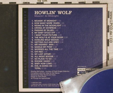 Howlin Wolf: Moanin' at Midnight, Digi, Blue Label(97552), D, 2006 - CD - 83754 - 5,00 Euro