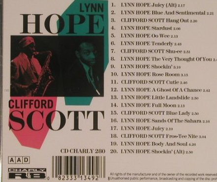 Hope,Lynn / Clifford Scott: Juicy!, Charly(280), , 1997 - CD - 99526 - 9,00 Euro