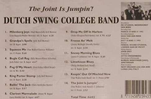 Dutch Swing College Band: The Joint Is Jumpin'!, Timeless(), D, 1995 - CD - 99699 - 7,50 Euro