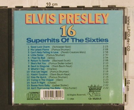 Presley,Elvis: 16 Superhits Of The Sixties, Duchesse(CD 352015), EEC, 1988 - CD - 83687 - 5,00 Euro