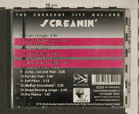 Crescent City Maulers: Screamin', Franky Boy(FBR005), D,  - CD - 83818 - 7,50 Euro