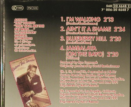 Domino,Fats: I'm Walking+3, EMI(), NL, 1992 - CD5inch - 83822 - 3,00 Euro