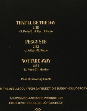 Holly,Buddy - Musical: That'll be the Day+2, Columb.(), EU, 1995 - CD5inch - 83829 - 3,00 Euro