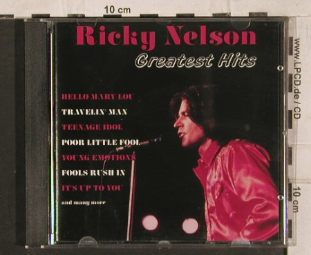 Nelson,Ricky: Greatest Hits, Bellaphon(288 07 259), D, 1995 - CD - 83834 - 7,50 Euro
