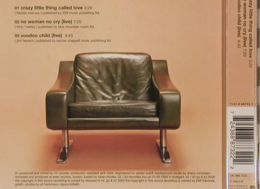 King (the): Crazy Little Thing Called Love+2, EMI(), EU, 2000 - CD5inch - 83836 - 4,00 Euro