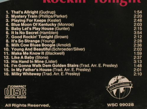 Presley,Elvis: Good Rockin'Tonight, Vol.1, World Star(WSC 99028), D, 1987 - CD - 83847 - 12,50 Euro