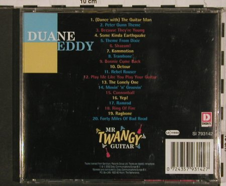 Duane Eddy: Mr Twangy Guitar, Disky(SI 793142), , 2002 - CD - 84326 - 7,50 Euro