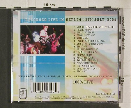 Stray Cats: Live in Berlin 12. 7. 04, FS-New, SurfDog(), , 2004 - CD - 90663 - 11,50 Euro