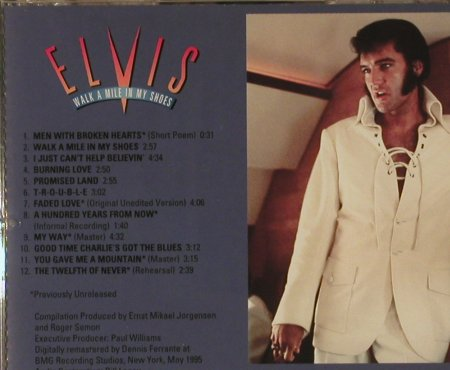 Presley,Elvis: Walk A Mile In My Shoes, Promo, RCA(RJC-66765-2), US, 1995 - CD - 95311 - 24,00 Euro