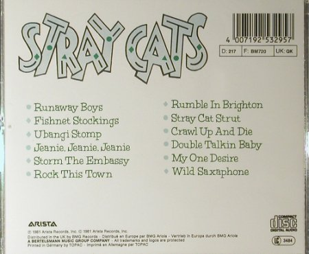 Stray Cats: Same '81, Arista(253 295), D,  - CD - 98157 - 7,50 Euro