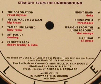 V.A.Straight From The Underground: Royal Rhymes..e.l Posse, Music of Live(SPOCK 2 CD), UK, 1990 - CD - 81271 - 6,00 Euro