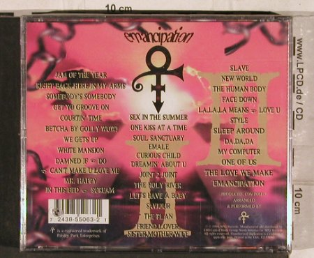 Prince As Symbol: Emancipation, FS-New, NPG(7243 8 55063 21), NL, 1996 - 3CD - 82181 - 20,00 Euro