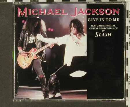 Jackson,Michael feat.Slash: Give In To Me/Dirty Diana/Beat It, Epic(), A, 1991 - CD5inch - 82746 - 4,00 Euro