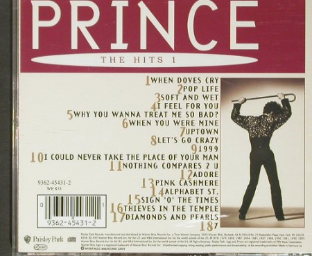 Prince: The Hits 1, WB(), D, 1993 - CD - 82748 - 7,50 Euro