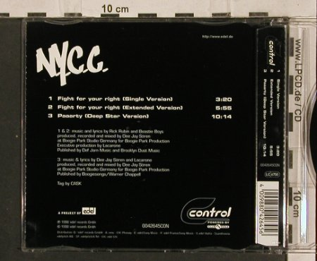 N.Y.C.C.: Fight For Your Right*2+1, Control(), D, 1998 - CD5inch - 82750 - 3,00 Euro
