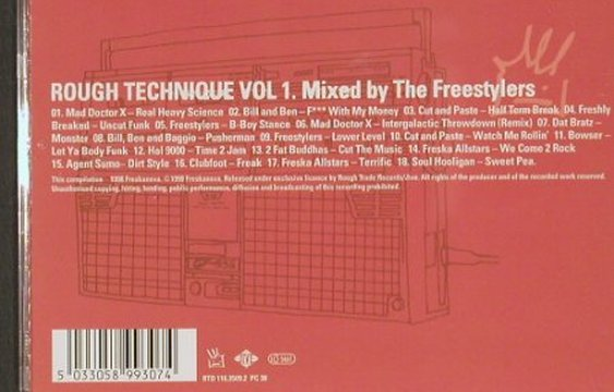 V.A.Rough Technique Vol.1: Mad Doctor X...Soul Hooligan,13 Tr., RTD(), EU, 2000 - CD - 82793 - 7,50 Euro