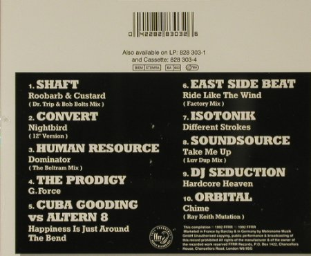V.A.Only For The Headstrong 1: 10Tr...Shaft..Orbital, ffrr(), EU, 1992 - CD - 82800 - 5,00 Euro