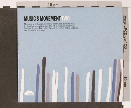 V.A.Music & Movement TWO: Nu-jazz and Bossa..; Digi, Mumo(02), EU, 2002 - 2CD - 82808 - 7,50 Euro