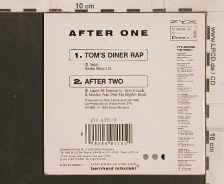 After One: Tom's Diner Rap / After Two, Digi, ZYX(ZYX 6398-12), D, 1990 - CD5inch - 82867 - 3,00 Euro