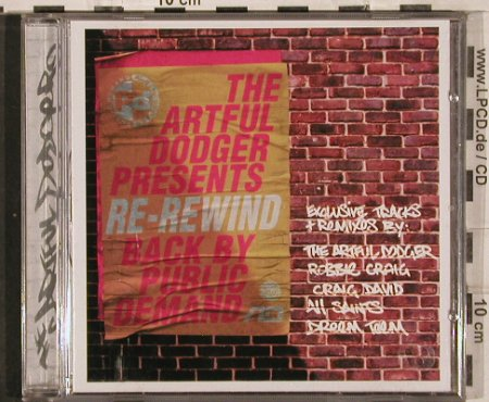 V.A.Re-Rewind: Artful Dodger..Sunshio f.VPD,15 Tr., ffrr(), D, 00 - CD - 82950 - 5,00 Euro