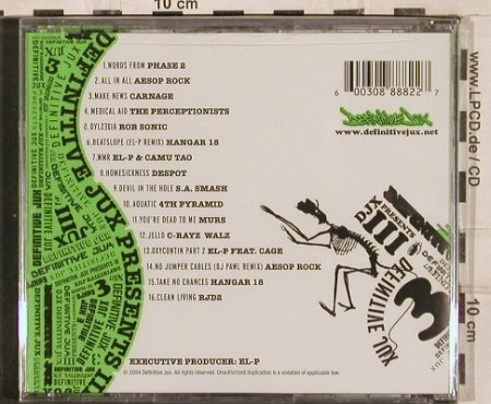 V.A.Djx Presents III: Phase 2...RJD2, 16 Tr., FS-New, Definitive Jux(DJX76), , 2004 - CD/DVD - 82952 - 10,00 Euro