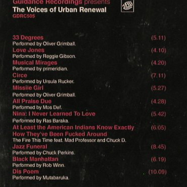 V.A.Urban Renewal: Voices of,33 Degrees...Dis Poem,vg+, EFA(), EU, 00 - CD - 82953 - 5,00 Euro