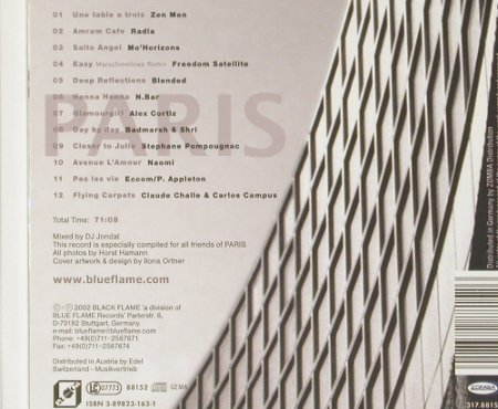 V.A.Vibration de Paris: Mixed by DJ Jondal,Digi, BlackFlame(), D, 2002 - CD - 91295 - 10,00 Euro