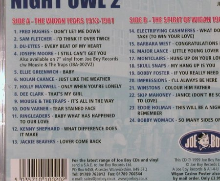 V.A.Night Owl 2: A Soul Celebration of 25 years..., Joe Boy(JBA-S002), , 99 - CD - 92075 - 10,00 Euro
