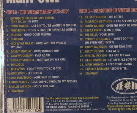 V.A.Night Owl 1: A Soul Celebration of 25 years, JoeBoy(JBA-S001), FS-New, 1999 - CD - 92076 - 11,50 Euro